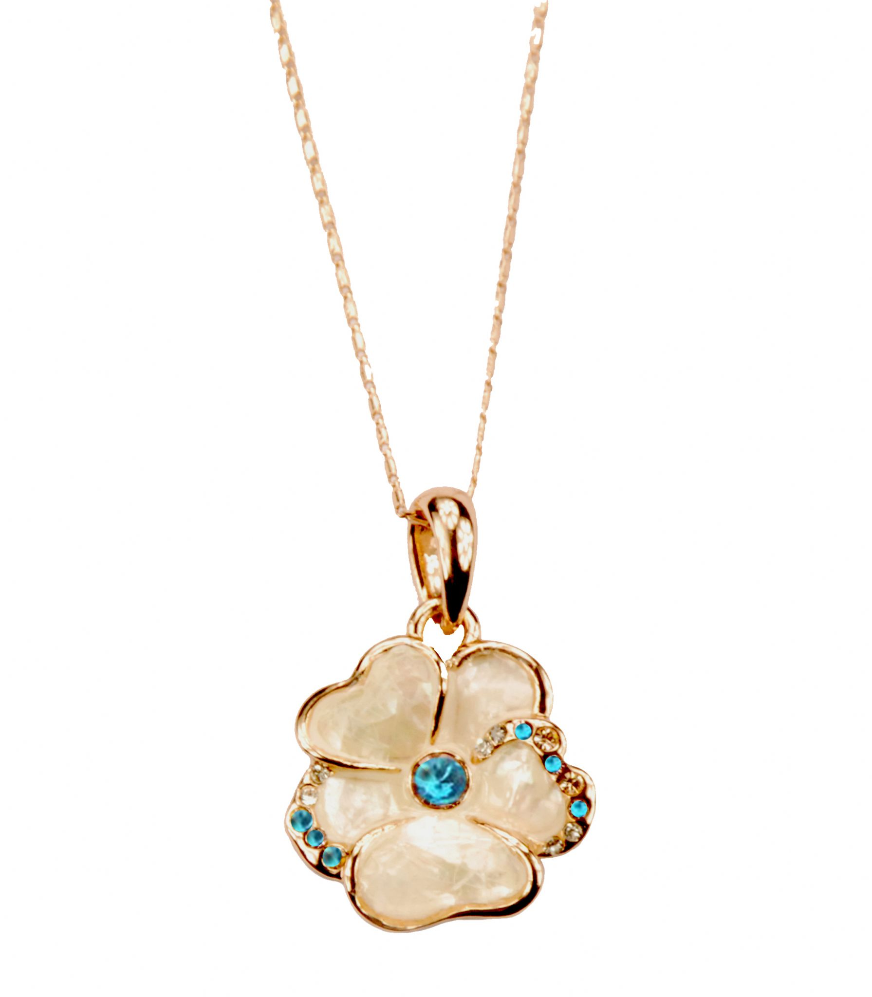 and gold jewellery necklace bonas anise pendant oliver leaf flower plated